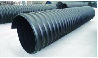 HDPE钢带螺旋波纹管