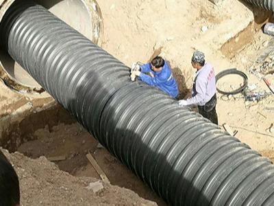 山西晋中路桥环城西路改造工程采购益佳银波纹排水管材、电力管材
